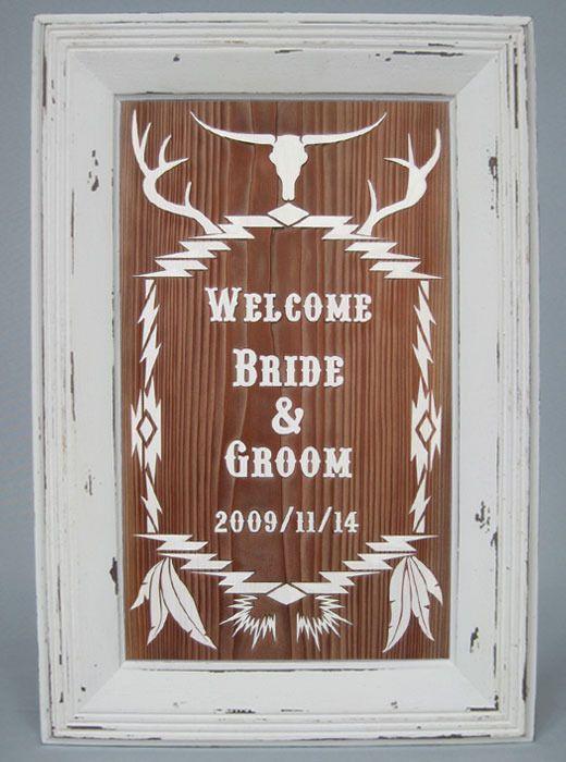 アメリカンなデザインのウェルカムボード♪アメリカでの結婚式一覧♡ウェディング・ブライダルの参考に♪