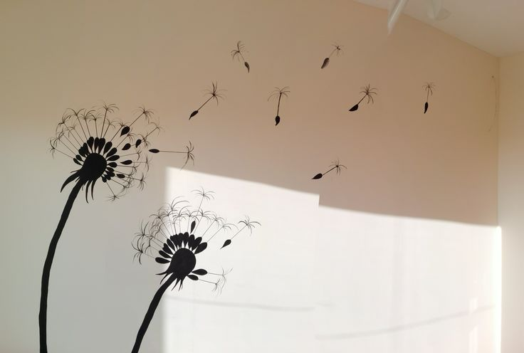 dandelion wall paint
