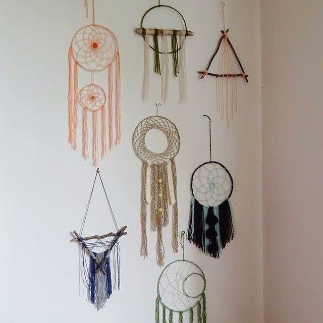 DIY deco - Sweet dreams - Dreamcatcher home made - Wool & wood -