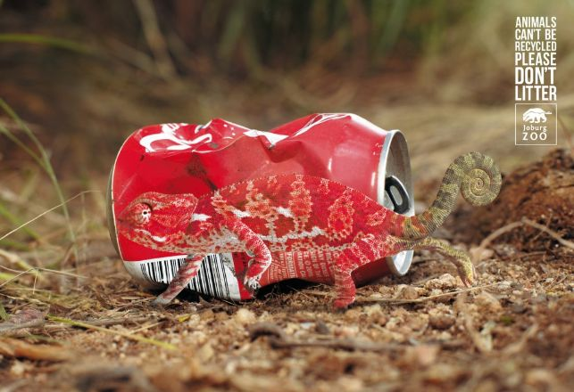 For the Johannesburg Zoo by Y&R Brands. #greatad #cop21 #recycling #savetheanimals