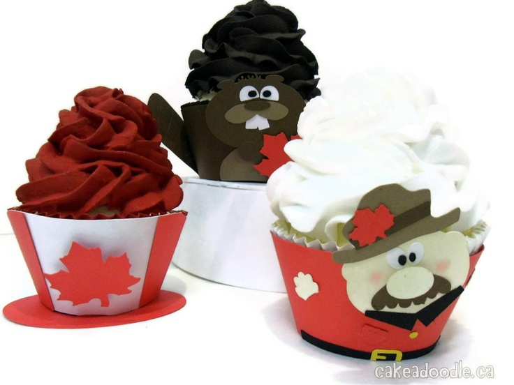 Canada Day Cupcake Wrappers from Etsy.