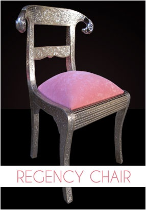 This is a handmade Regency Chair, we are using white metal(German Silver) on it, using floral design, teak wood, ram head. You can use as dining chair, living room chair, hotel chair, office chair, restaurant chair, decorative chair etc.