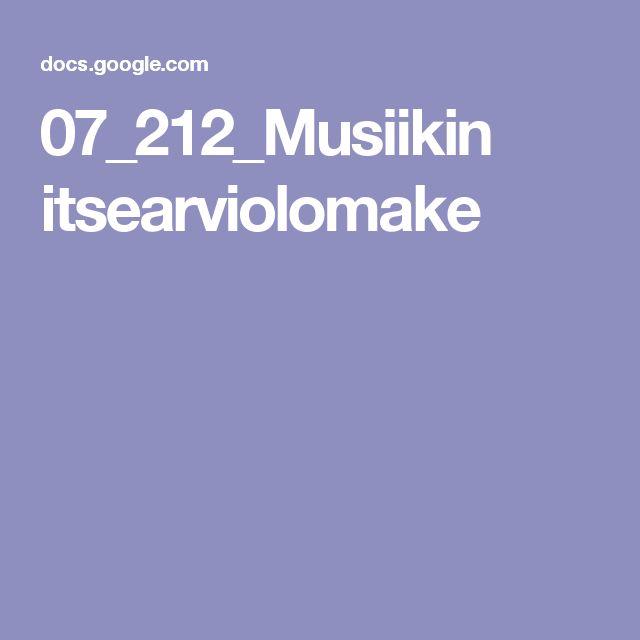 07_212_Musiikin itsearviolomake
