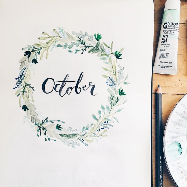 #kgobehindthescenes: I can't believe it's October. It feels like yesterday I was in New York for my birthday all the way back in January! So excited for some (hopefully) warmer weather in Perth and the start of Spring here. I painted this little wreath on the first page of my brand new sketch book and I'm aiming to fill it by the end of the month! What is your aim for October?