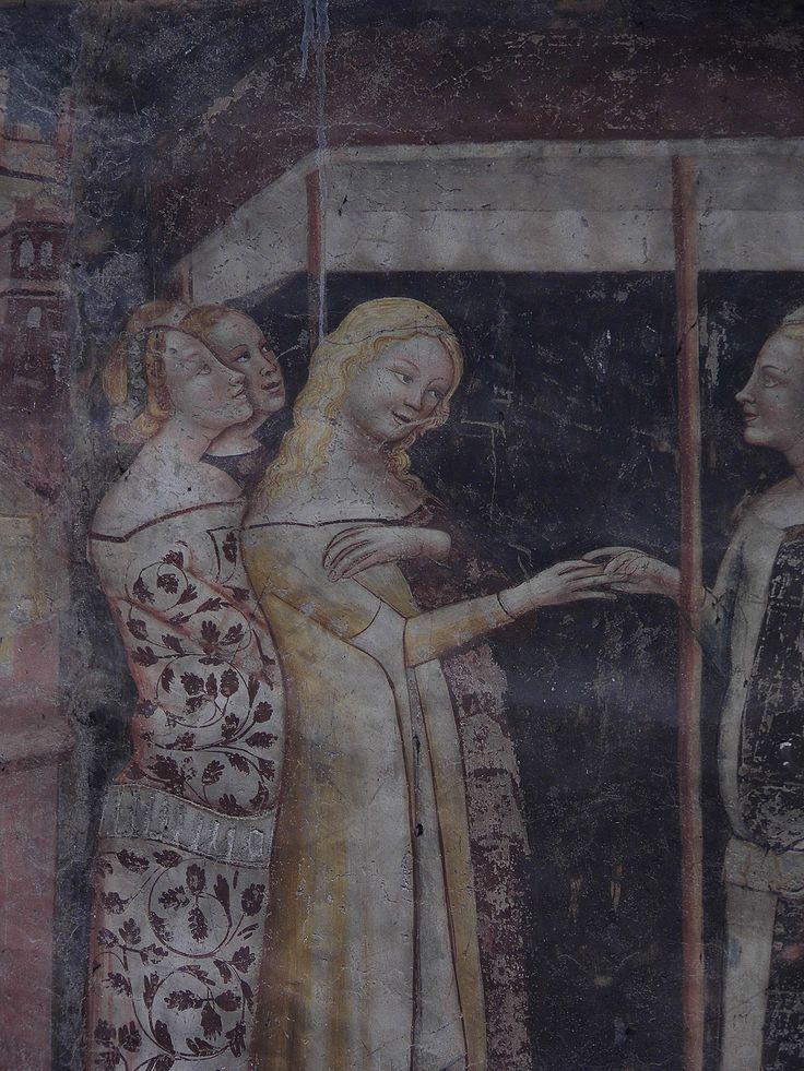 """Monte da Bologna, dettaglio delle """"Storie di San Giuliano"""" (1350-1360). Cattedrale di San Vigilio, Trento."""