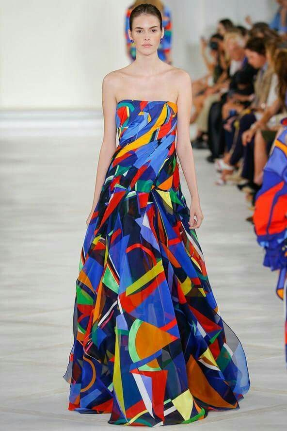Ralph Lauren, colourful blocks and creative silhouette