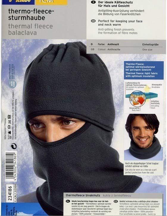Stormlue/hals thermo-fleece Balaclava, TCM