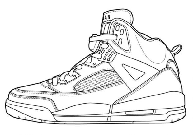 easy jordan coloring pages - photo#6