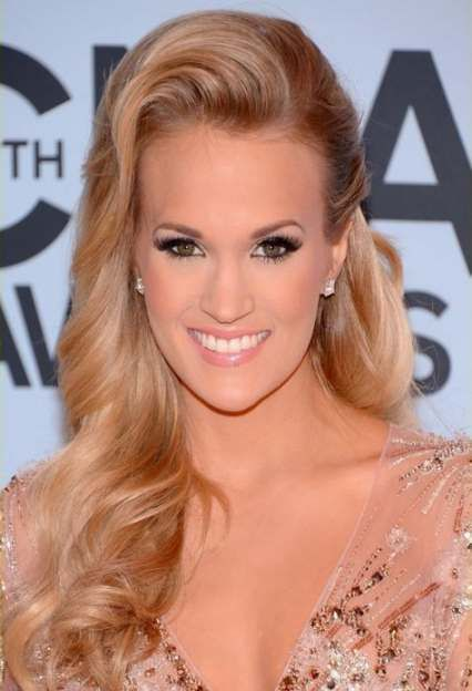 New Bridal Hairstyles For Long Hair Sideswept Carrie Underwood 31 Ideas