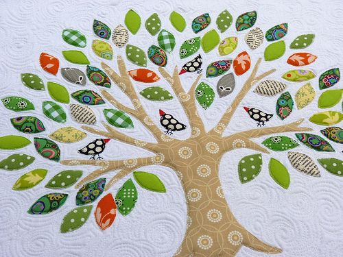 paringdown:    via red pepper quilts  tree quilt with birdies - love this!
