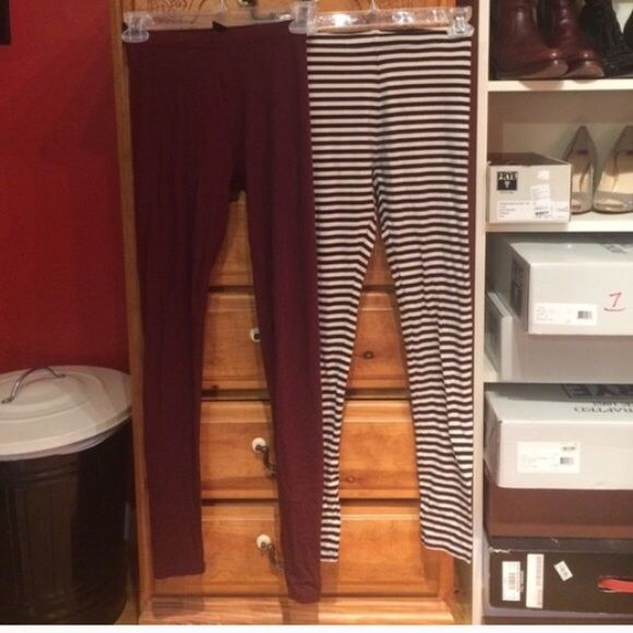 H&M Leggings Size XS! 2 pair! Hello! 2 pair of size XS H&M leggings! Preowned! All sales are final, no trades  thank you! H&M Pants Leggings