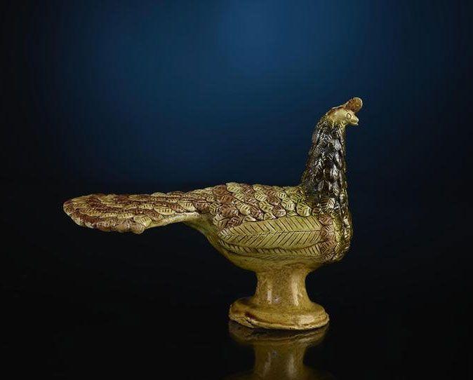 Stanisław Kosiarski, Figurka - paw, koniec lat 30. XX w. #birds #ptaki #kolekcjaMNK #MNKcollection #kolekcja