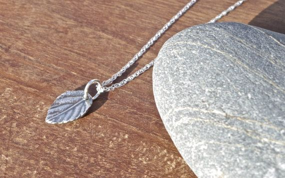 Dainty Leaf Necklace/Pendant fine silver by MeltSilver on EtsyThis fine Silver leaf pendant was handmade by me in my workshop here in Cornwall using Silver Metal Clay. Because of the process involved, every leaf I make will be subtly different and perfectly-imperfect in their own way, so you can be sure of a unique piece of jewellery.