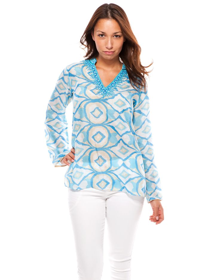 Ikat Tunic - Blue