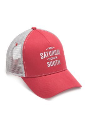 Saturday Down South CrimsonGray Saturday Down South  Mesh Trucker Cap