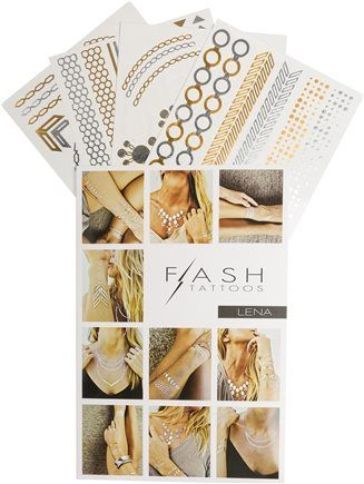 Flash tattoos, metallic temporary tattoos. http://www.swell.com/New-Arrivals-Womens/FLASH-TATTOOS-LENA-TATTOO-SET?cs=MU
