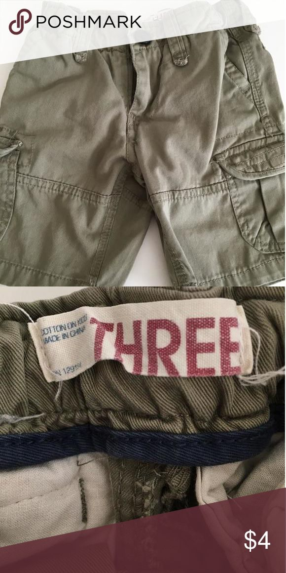 Cotton On Boys Cargo Shorts Cargo Shorts in khaki green color. In excellent condition. No holes, rips or flaws. Comes from smoke/pet free home. Shirts & Tops