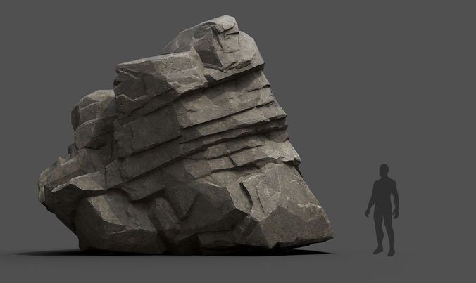 modular rocks 3d model low-poly obj mtl fbx 4 | Ani pack in 2019