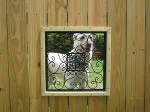 dog window for fence
