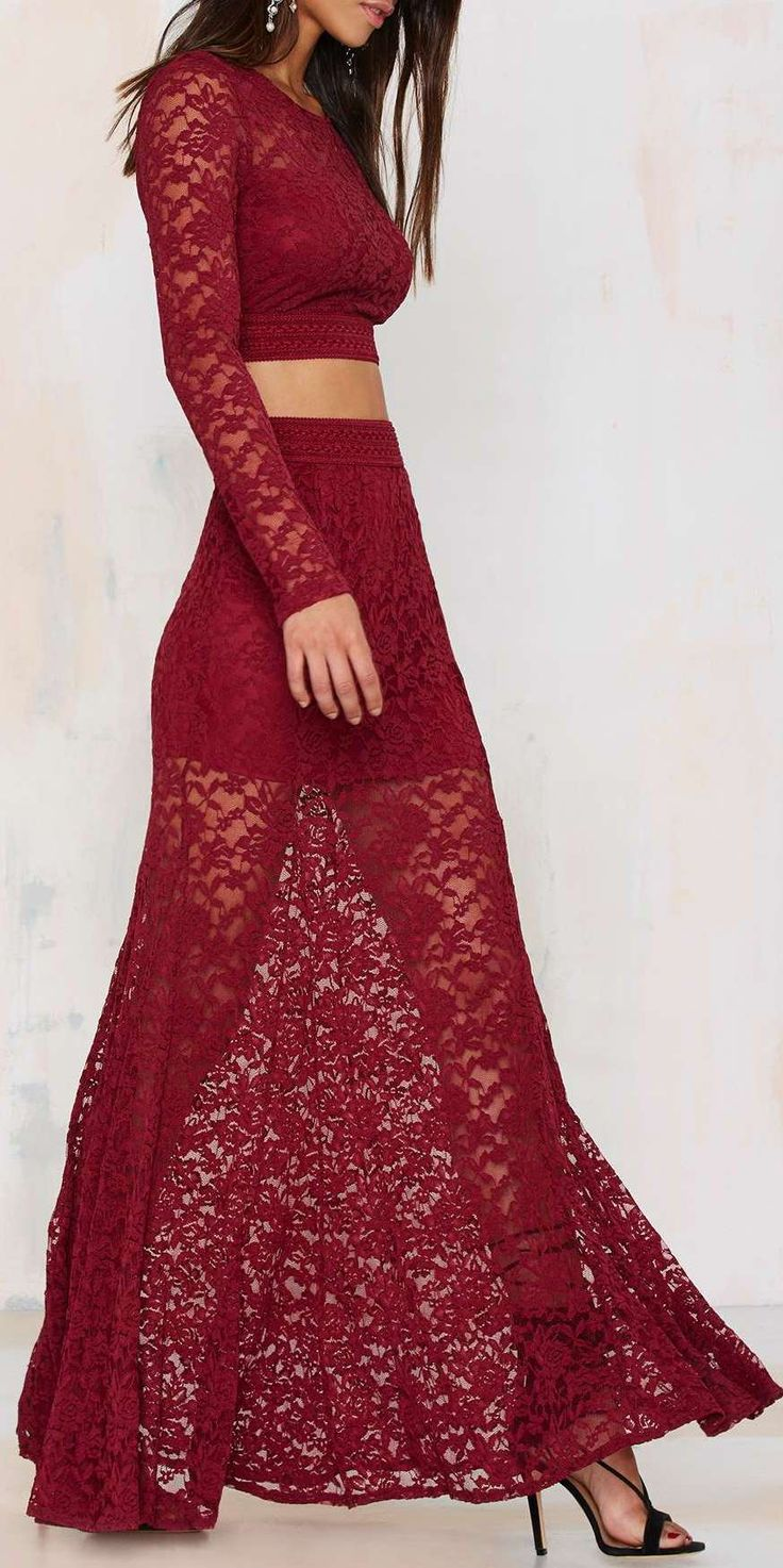 Not a Love Story Lace Maxi Skirt