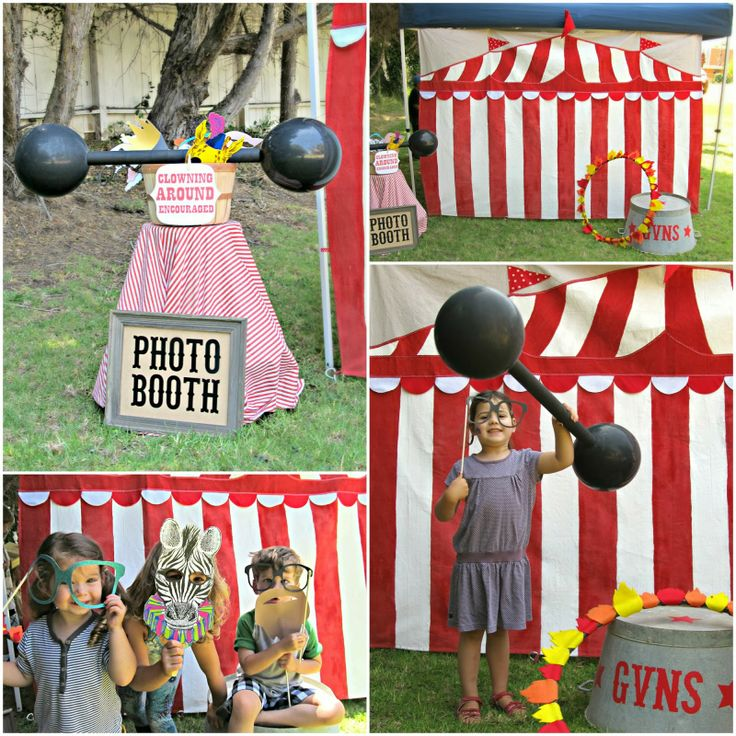 Circus Stand Up Props | The carnival games included a Bean Bag Toss, Fishing, Tin Can Alley ...