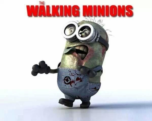 The Walking Minions <3 #Minions #TWD #TheWalkingDead
