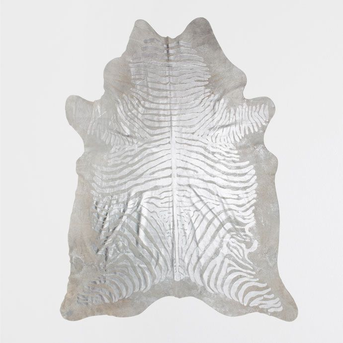 LEREN TAPIJT MET ZILVERKLEURIGE PRINT - Tapijten - Decoratie | Zara Home België…