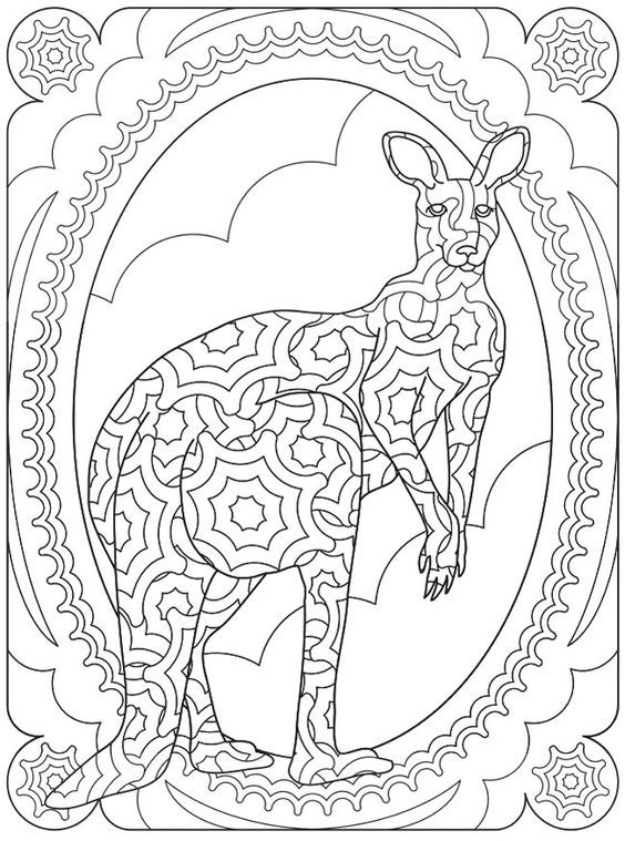 kangaroo animal coloring pages. Welcome to Dover Publications  SPARK Wildlife Designs 90 best coloring kangaroo ostrich images on Pinterest Kangaroo