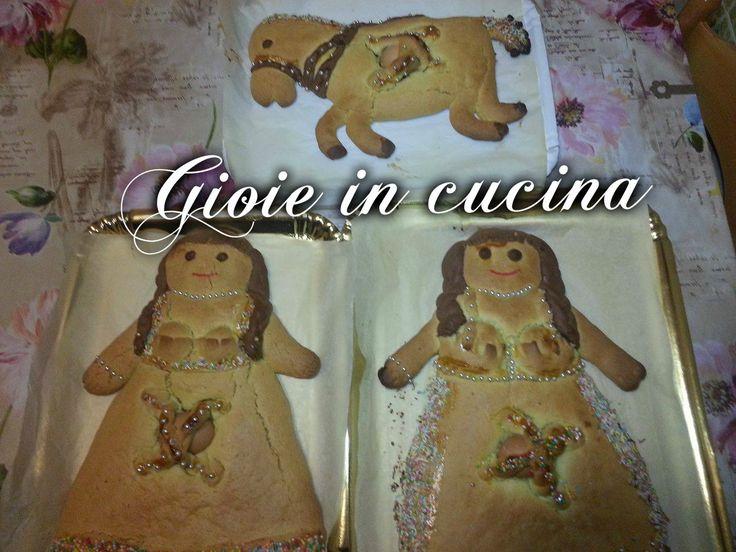 La pupa e il cavallo, sono dei biscotti giganti dedicati sopratutto ai bambini. E' una ricetta tradizionale abruzzese, tipica della festività di Pasqua.