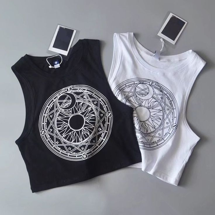 Moon & Sun Crop Top – #shirts #tops #fashion #wicca #witch #nugoth