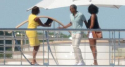Barack & Michelle Obama Pose On David Geffen's Superyacht During Day Out With Oprah