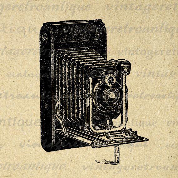 Old Fashioned Camera Digital Image Download Illustration Graphic Printable Antique Clip Art Jpg Png Eps 18x18 HQ 300dpi No.1504 @ vintageretroantique.etsy.com