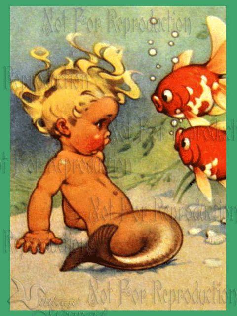 Vintage mermaid@ IMGFAVE love this !