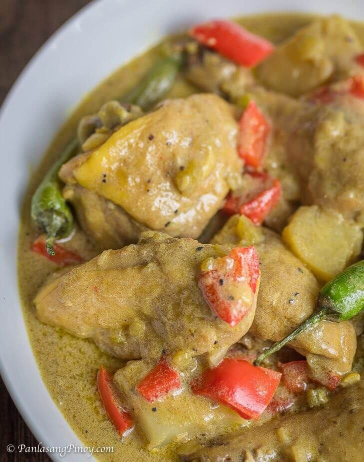 How to cook chicken curry with coconut milk panlasang pinoy