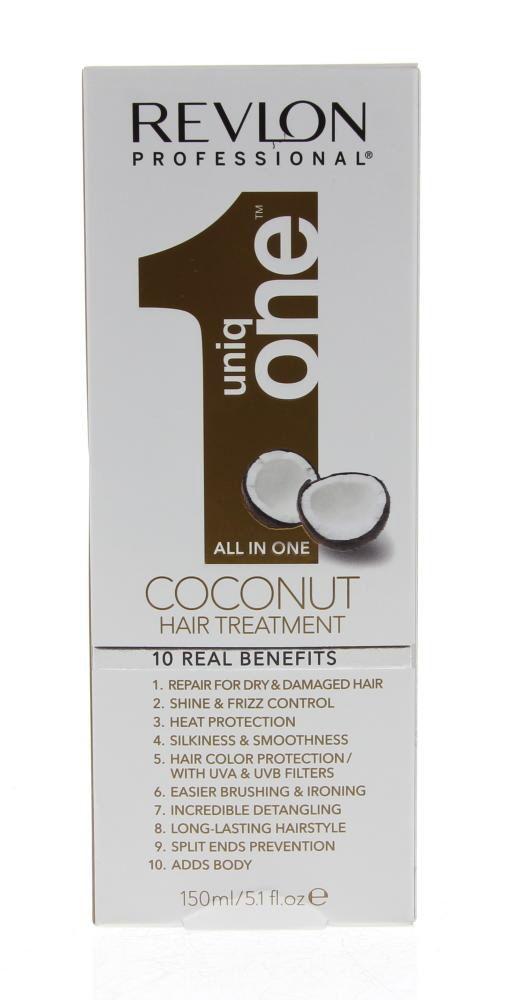 Uniq-One All in One Treatment Coconut Spray Alle Haartypen 150ml  Description: Uniq One All in One Treatment Capillaire Coconut 150 ml.Uniq One is de unieke oplossing van uw dromen. Laat u verleiden door de onweerstaanbare kokosaroma een heerlijke geur die u een duurzaam gevoel van welbehagen bezorgt.Gebruik op vochtig haar:Ontwar je haar met een kam. Spray het product over het haar. Zoals gewoonlijk stylen van je haar: föhnen straighten het drogen aan de lucht enz. Indien gewenst gebruik…