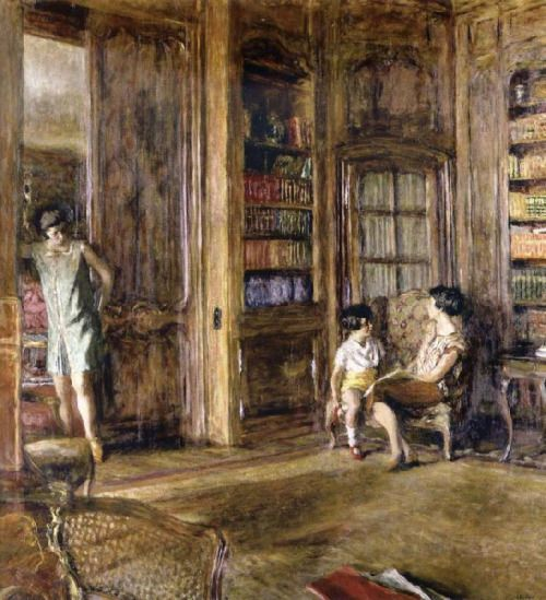 In the Library, Edouard Vuillard, 1925.