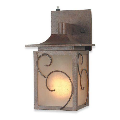 Royce lighting rl014sm 15 corinthian bronze outdoor wall lantern with frosted globe by royce lighting
