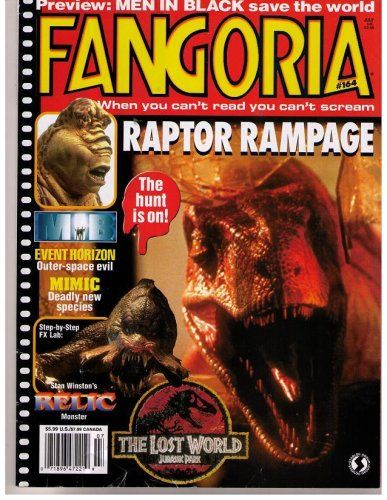 FANGORIA MAGAZINE #164 (July 1997)(LOST WORLD JURASSIC PARK COVER)(#1 Horror Magazine) @ niftywarehouse.com #NiftyWarehouse #JurassicPark #Jurassic #Dinosaurs #Film #Dinosaur #Movies