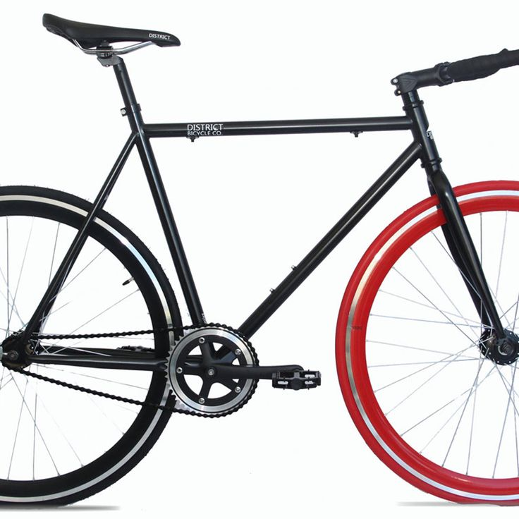 Introducing the Docklands. Matte Black frame with one red wheel. Awesome! #urbanicbikes #bikes #fixie