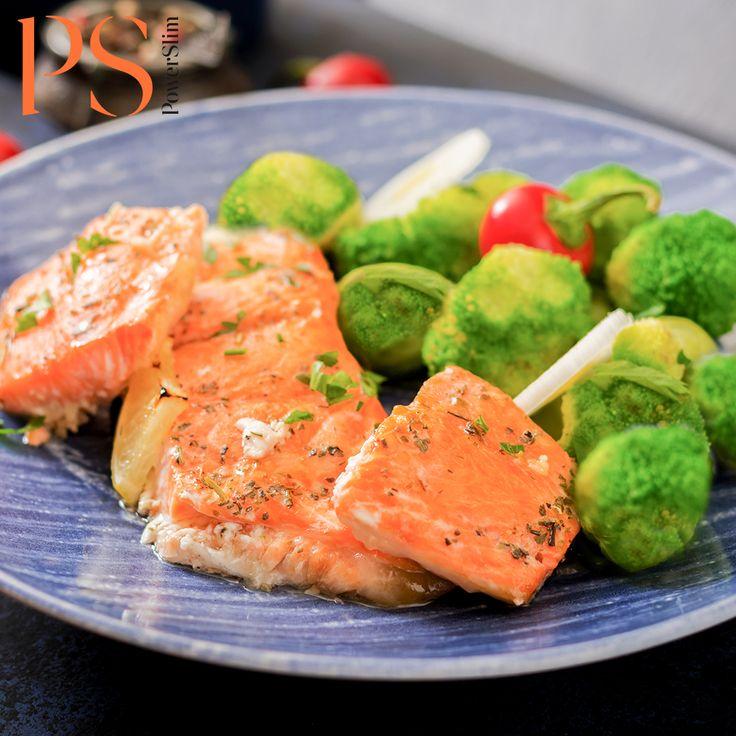 Gebakken zal met gestoomde groenten | Koolhydraatarm recept | PowerSlim fase1