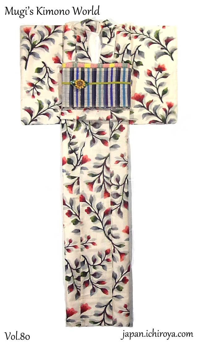 *They are available at ICHIROYA.  To English page  Kimono : http://www.ichiroya.com/item/list2/271140/  Obi : http://www.ichiroya.com/item/list2/278707  Obi : http://www.ichiroya.com/item/list2/278708  *Obijime cord and obiage sash are not for sale.