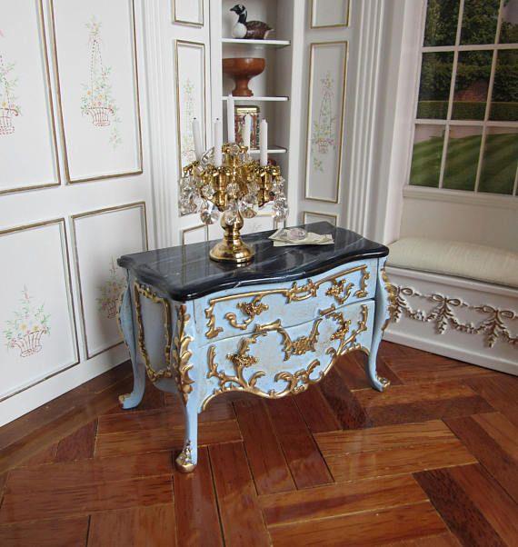 1:12th schaal  Dolls House  Hand geschilderd Louis XV