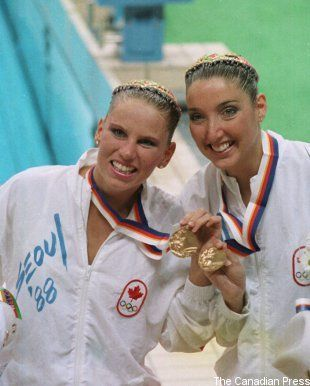 Synchro Canada remembers Carolyn Waldo and Michelle Cameron duet gold medal 25 years ago today at the 1988 Olympic Games