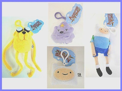Adventure Time Finn Jake FinnFace Princess Lumpy Backpack Clip-On Plush Soft set of 4 @ niftywarehouse.com