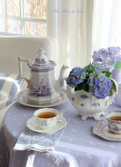 "Aiken House & Gardens: A Breath of Spring.  ""So, there is a touch of spring in my tea time today as well."" Carolyn Aiken"