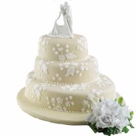Exquisite Ivory Cake