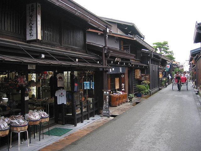Sannomachi Street scene, Takayama, Japan by Paul Mannix, via Flickr