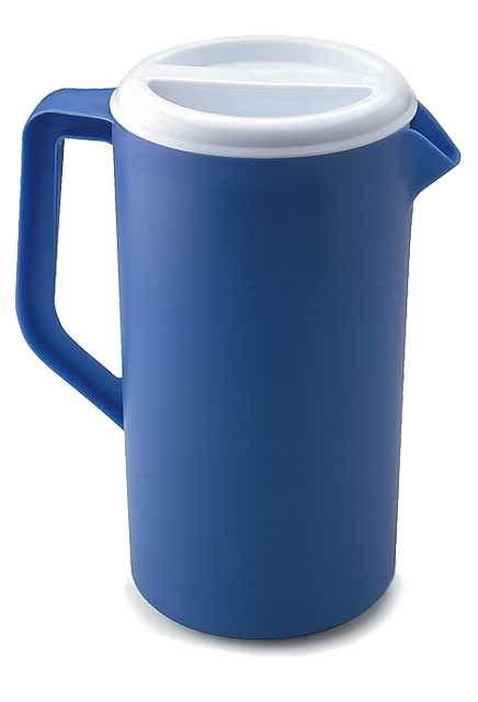 Pichet à jus bleu avec couvercle