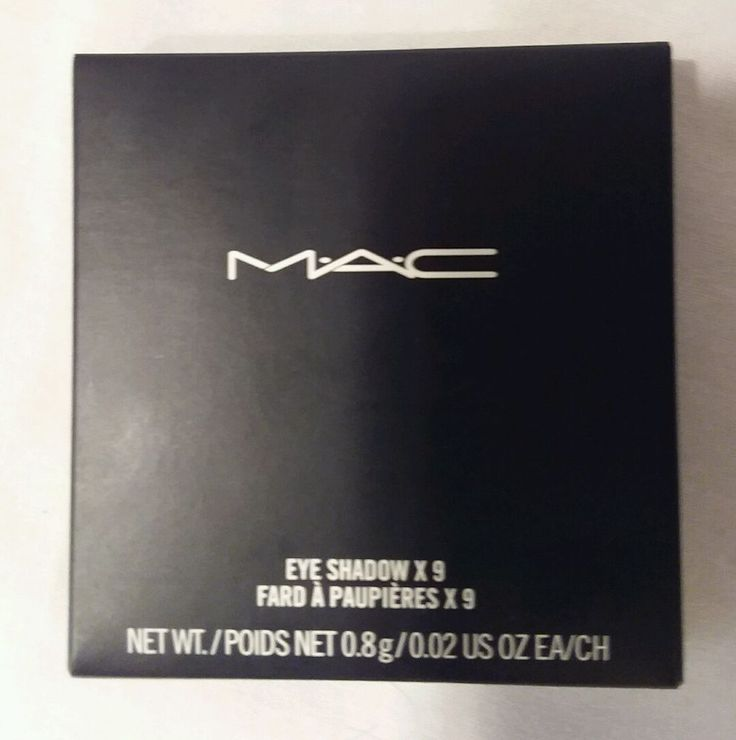 MAC Eyeshadow X 9 Smoky Metallic Times Nine New In Box Ret $40 #MAC