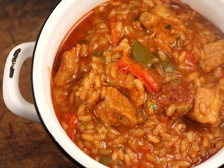 Pilaf cu carne de porc - tocanita, orez